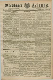 Breslauer Zeitung. Jg.70, Nr. 819 (21 November 1889) - Abend-Ausgabe