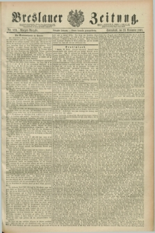 Breslauer Zeitung. Jg.70, Nr. 823 (23 November 1889) - Morgen-Ausgabe + dod.