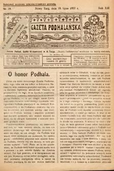 Gazeta Podhalańska. 1925, nr29