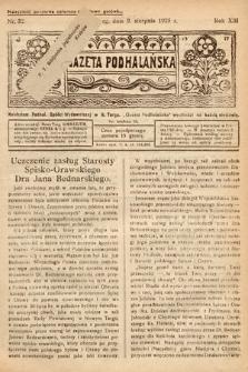 Gazeta Podhalańska. 1925, nr32