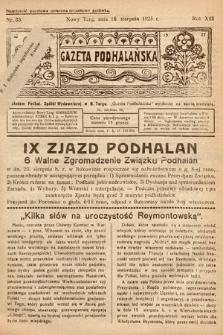 Gazeta Podhalańska. 1925, nr33