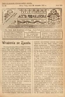 Gazeta Podhalańska. 1925, nr35