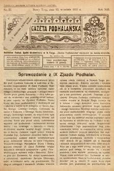Gazeta Podhalańska. 1925, nr37
