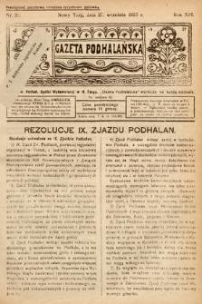 Gazeta Podhalańska. 1925, nr39