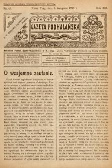 Gazeta Podhalańska. 1925, nr45