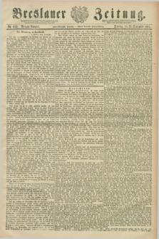 Breslauer Zeitung. Jg.72, Nr. 679 (29 September 1891) - Morgen-Ausgabe + dod.