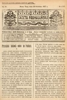 Gazeta Podhalańska. 1927, nr39