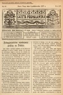 Gazeta Podhalańska. 1927, nr40