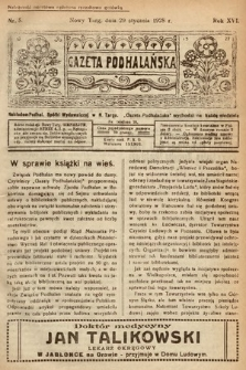 Gazeta Podhalańska. 1928, nr5