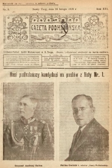 Gazeta Podhalańska. 1928, nr9
