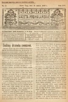 Gazeta Podhalańska. 1928, nr12