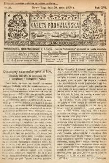 Gazeta Podhalańska. 1928, nr21