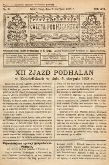 Gazeta Podhalańska. 1928, nr32