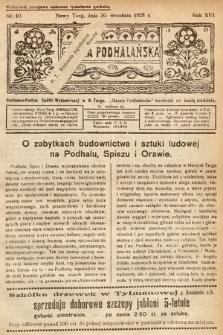 Gazeta Podhalańska. 1928, nr40
