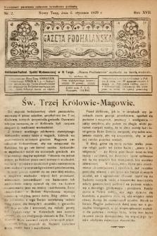 Gazeta Podhalańska. 1929, nr2