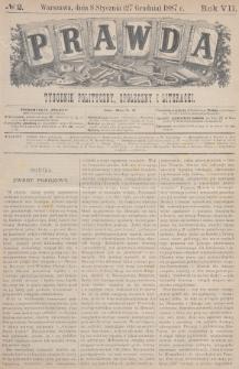 Prawda : tygodnik polityczny, społeczny i literacki. 1887, nr2