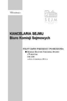 Pełny Zapis Przebiegu Posiedzenia Komisji Kultury Fizycznej, Sportu i Turystyki (nr 118) z dnia 8 kwietnia 2014 r.