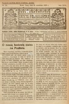 Gazeta Podhalańska. 1929, nr38