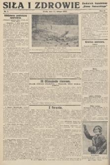 """Siła i Zdrowie : dodatek tygodniowy """"Słowa Pomorskiego"""". 1932, nr7"""