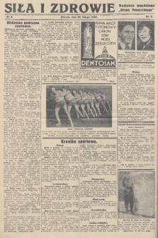 """Siła i Zdrowie : dodatek tygodniowy """"Słowa Pomorskiego"""". 1932, nr8"""