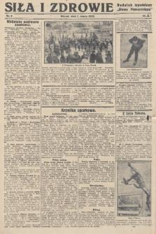 """Siła i Zdrowie : dodatek tygodniowy """"Słowa Pomorskiego"""". 1932, nr9"""