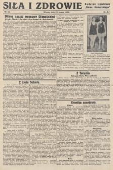 """Siła i Zdrowie : dodatek tygodniowy """"Słowa Pomorskiego"""". 1932, nr11"""