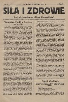 """Siła i Zdrowie : dodatek tygodniowy """"Słowa Pomorskiego"""". 1928, nr2"""