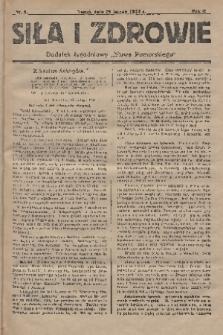 """Siła i Zdrowie : dodatek tygodniowy """"Słowa Pomorskiego"""". 1928, nr9"""