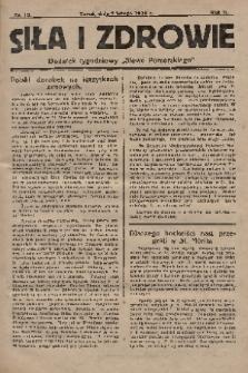 """Siła i Zdrowie : dodatek tygodniowy """"Słowa Pomorskiego"""". 1928, nr10"""