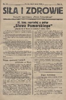 """Siła i Zdrowie : dodatek tygodniowy """"Słowa Pomorskiego"""". 1928, nr19"""