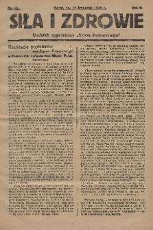 """Siła i Zdrowie : dodatek tygodniowy """"Słowa Pomorskiego"""". 1928, nr46"""
