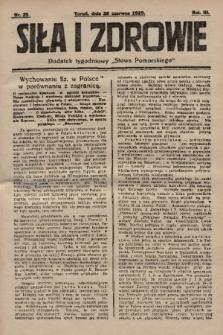 """Siła i Zdrowie : dodatek tygodniowy """"Słowa Pomorskiego"""". 1929, nr25"""
