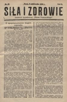 """Siła i Zdrowie : dodatek tygodniowy """"Słowa Pomorskiego"""". 1929, nr39"""