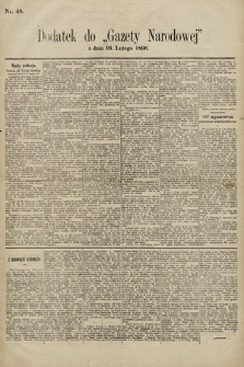 Gazeta Narodowa. 1896, nr48