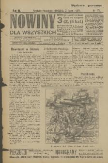 Nowiny dla Wszystkich : dziennik ilustrowany. R.3, 1905, nr172