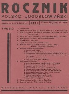 Rocznik Polsko-Jugosłowiański. 1932
