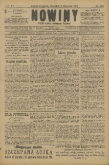 Nowiny : dziennik niezawisły demokratyczny illustrowany. R.6, 1908, nr202