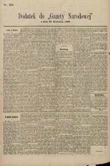 Gazeta Narodowa. 1896, nr110
