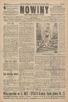 Nowiny : dziennik niezawisły demokratyczny illustrowany. R.5, 1907, nr47