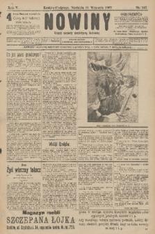 Nowiny : dziennik niezawisły demokratyczny illustrowany. R.5, 1907, nr247