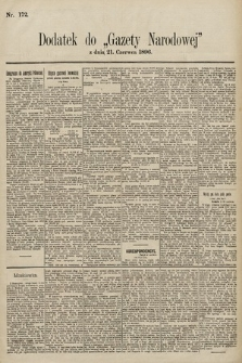 Gazeta Narodowa. 1896, nr172