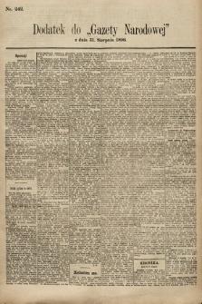 Gazeta Narodowa. 1896, nr242