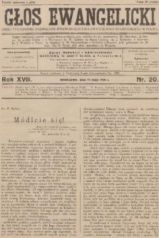 Głos Ewangelicki : pismo tygodniowe poświęcone sprawom Kościoła Ewangelicko-Augsburskiego w Polsce. R.17, 1936, nr20