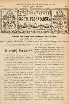Gazeta Podhalańska. 1922, nr26