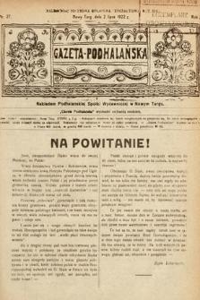 Gazeta Podhalańska. 1922, nr27