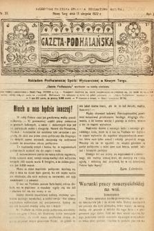 Gazeta Podhalańska. 1922, nr33