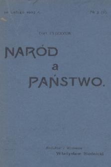 Naród a Państwo. 1907, №3