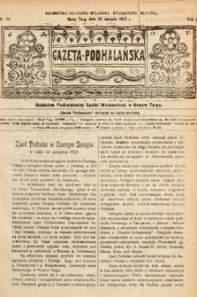 Gazeta Podhalańska. 1922, nr34