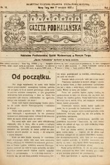 Gazeta Podhalańska. 1922, nr38