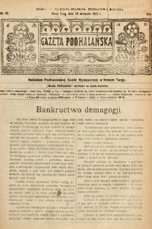 Gazeta Podhalańska. 1922, nr39